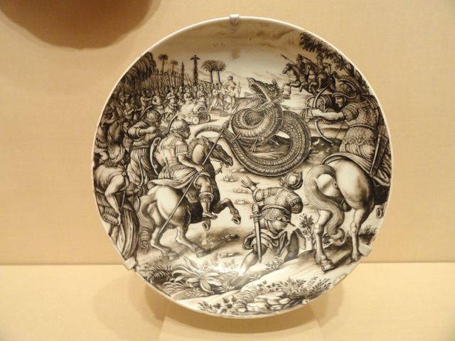 800px-Dish_with_Scene_of_Atilius_Regulus_Battling_the_African_Serpent,_Ignaz_Preissler,_c._1725_-_Nelson-Atkins_Museum_of_Art_-_DSC08870