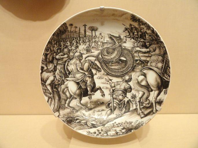 800px-Dish_with_Scene_of_Atilius_Regulus_Battling_the_African_Serpent,_Ignaz_Preissler,_c._1725_-_Nelson-Atkins_Museum_of_Art_-_DSC08870
